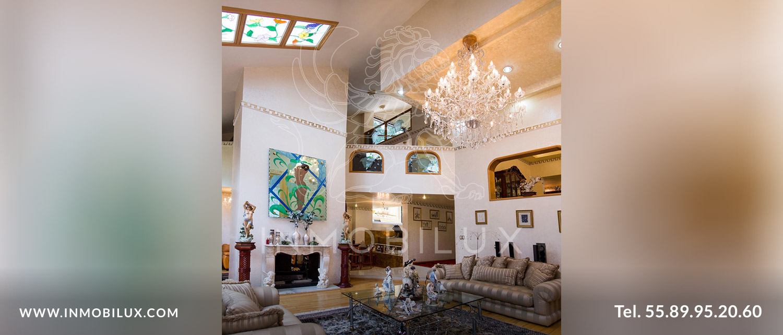 vista sala casa en Fuentes del Pedregal