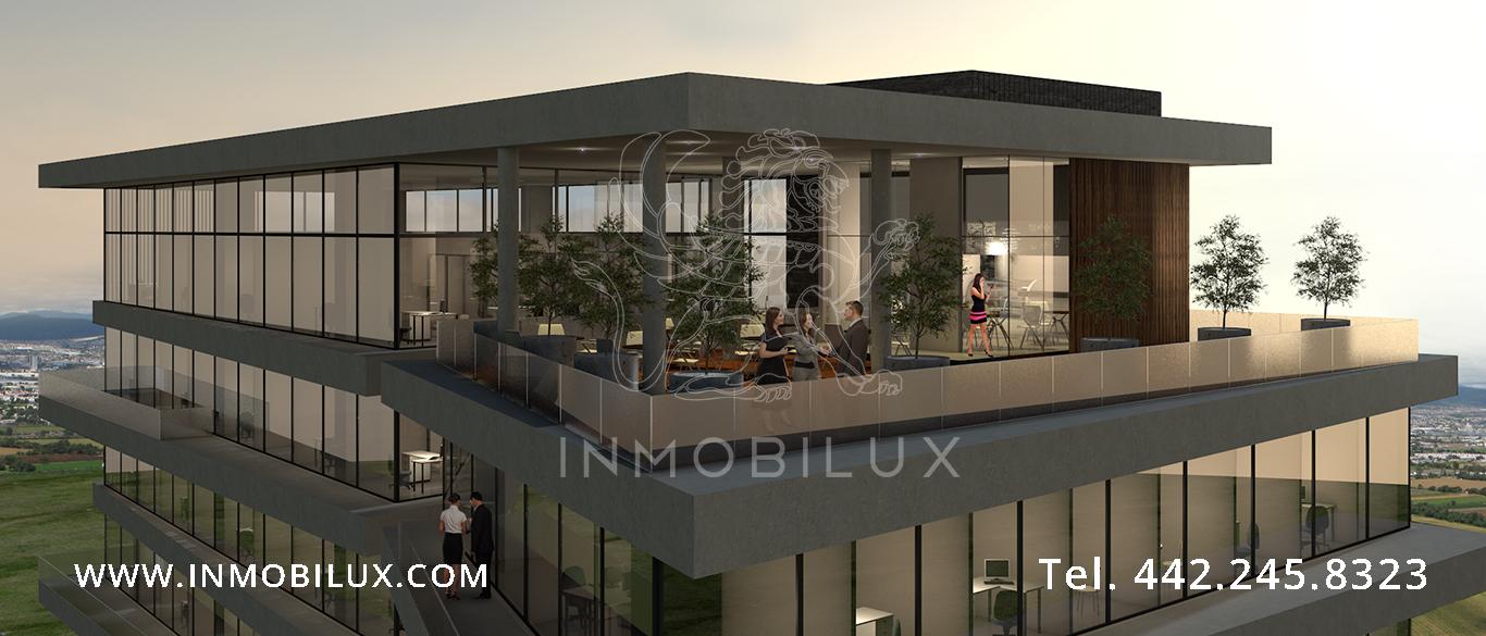 vista terraza edificio de oficinas Altius Corporate Center
