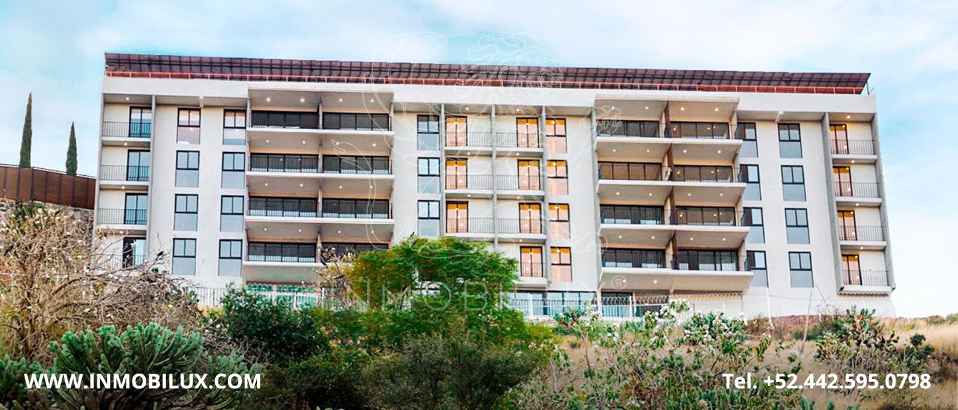 Vista Frontal departamentos Calandrias Residencial
