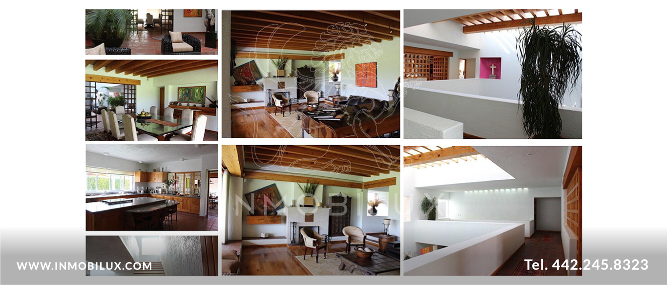 collage interior casa El Campanario Querétaro