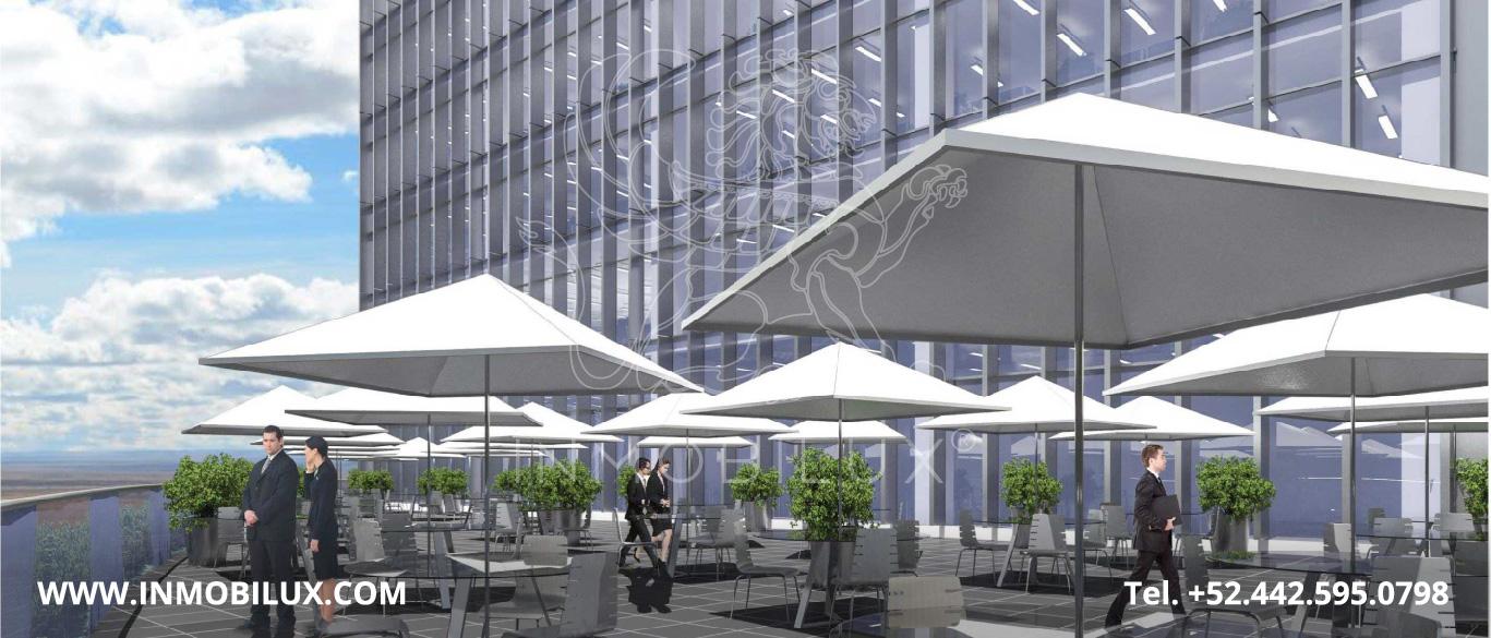 terraza locales comerciales Corporativo Titanium