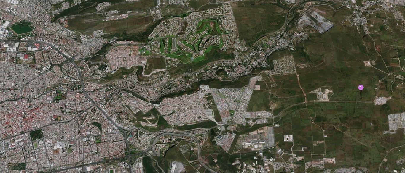 vista aérea terreno para desarrollador en Querétaro